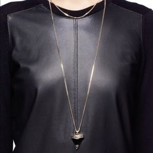 Givenchy Shark tooth double necklace